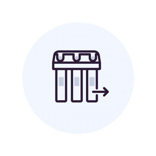 Демонтаж фильтра с краном